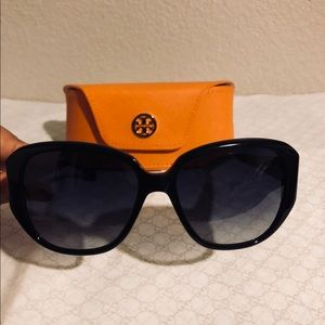 Tory Burch Black and Gold Sunglasses